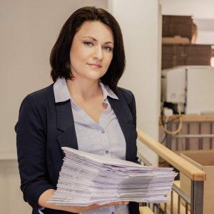 Diana Kriger. Ihre kompetente Ansprechpartnerin bei Reprograf Leipzig.